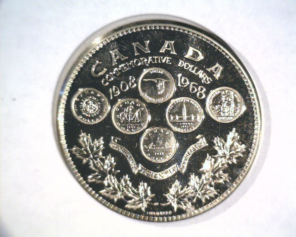 1968 Canada Dollar Commemorative Prooflike Medal Honoring Numismatic Excellence