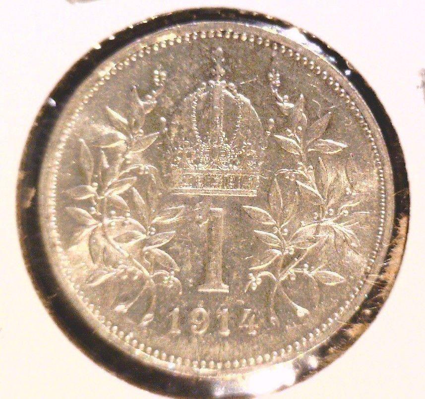 1914 Austria Silver Corona Coin BU  KM#2820 .1342 ASW   X