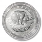 2013 Canada Silver Proof $10 coin Polar Bear .9999 fine silver with OGP and COA