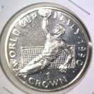 World Cup Soccer 1990 Gibraltar Prooflike One Crown Coin KM#35  Italy