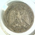 1880 Ho A  Mexico 5 Silver Centavos Coin KM#398.7  XF Condition Second Republic