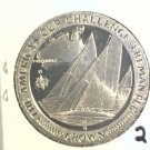 1987 Isle of Man BU Crown Coin Brilliant Uncirculated KM#179 Sailboat Freemantle