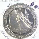 1987 Isle of Man BU Crown Coin Brilliant Uncirculated KM#184 Sailboat Freemantle