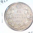 1918 Canada 50 cent silver coin KM#23 Fine Condition  .925 sterling .3456 ASW