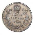 1935 Canada 10 cent silver coin KM#23a Very Fine Condition