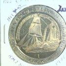 1988 Isle of Man BU Crown Coin Brilliant Uncirculated KM#229 Sirius Steam Ship