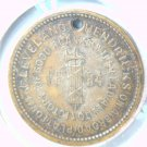 1884 Cleveland Hedricks Campaign Medal   Broad Platform    Blue Lot