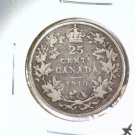 1910 Canada Silver 25 cents coin KM# 11a  .1717 ASW  BLUE Lot