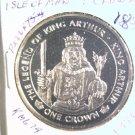 1996 Isle of Man BU Crown Coin Brilliant Uncirculated KM#679 King Arthur