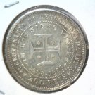 1898 Portugal 200 Reis Silver Coin .1474 ASW KM#537 BU Discovery of India blue