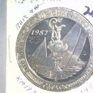 1987 Isle of Man BU Crown Coin Brilliant Uncirculated KM#183 Sailboat Freemantle