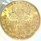 1937 Edward VIII Commemorative Medal 35 mm 20 grams     Blue Lot