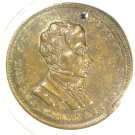 1852 Franklin Pierce Campaign Token Statesman Soldier Hake #3008  26mm  Blue Lot