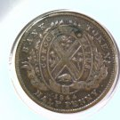 1844 Bank of Montreal Canada 1/2 Penny Bank Token KM#TN-18   BLUE Lot