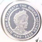 2002 Great Britain Silver Proof 5 pound coin KM#1035a The Queen Mother  Blue Lot