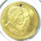 1884 Cleveland Hedricks Gold Plated Campaign Medal l  Broad Platform    Blue Lot