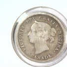 1881-H Canada Silver 5 cents coin KM#2  .0346 ASW  BLUE Lot