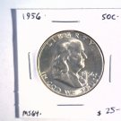 1956 Franklin Silver Half Dollar Choice Brilliant Uncirculated