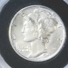 1943 Silver Mercury Dime Winged Liberty Brilliant Uncirculated Great Luster !
