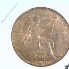 1920 Great Britain Penny Coin KM#810 AU   Blue Lot