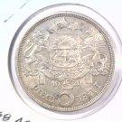 1929 Latvia 5 Lati Silver coin KM#9  .6668 ASW Latvian Republic  Blue Lot