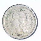 1881 3 cent nickel three cent nickel Fine Condition