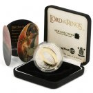 New Zealand Silver Proof Dollar 2003 Lord of the Rings Ring of Power Box & COA