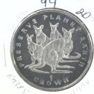 1994 Isle of Man BU Crown Coin Brilliant Uncirculated KM#385 Kangaroos Earth