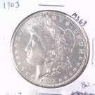 1903 Morgan Silver Dollar Choice Brilliant Uncirculated BU+