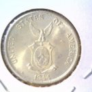 1944 D Philippines Silver 20 Centavos Coin BU KM#182 .0958 ASW