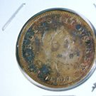 1807 Great Britain Half Penny KM#662 George III XF details environmental damage