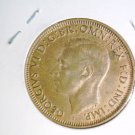 1943 M Australia Penny UNCIRCULATED KM#36 George VI and Kangaroo
