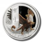 2013 Tuvalu Silver Proof $1 coin Griffin  .999 fine silver  OGP & COA 5,000 made