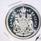 1963 Canada Prooflike Silver 50 cents coin KM#56 .2981 ASW