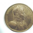 "Andrew Jackson Presidential Bronze Medal 1815 Battle of New Orleans 2-1/2"" 130 g"