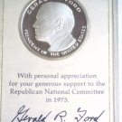 Sterling Gerald Ford Medal 1975 Official RNC Limited Edition 25.8 Grams .925