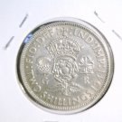 1941 Great Britain Silver Florin Coin KM#855 About Uncirculated   .1806 ASW