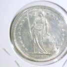 1965 Switzerland Silver 2 francs coin KM#21   .2667 ASW