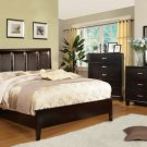 Chester Leatherette Headboard Espresso Finish Bed - FREE DELIVERY IN SOUTHERN CALIFORNIA