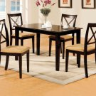 Melbourne I Espresso Finish 5pc Rectangular or Square Dining Set - FREE DELIVERY IN SOUTH CALIFORNIA