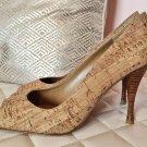 Stuart Weitzman Linda Cork Heels - Size 6.5