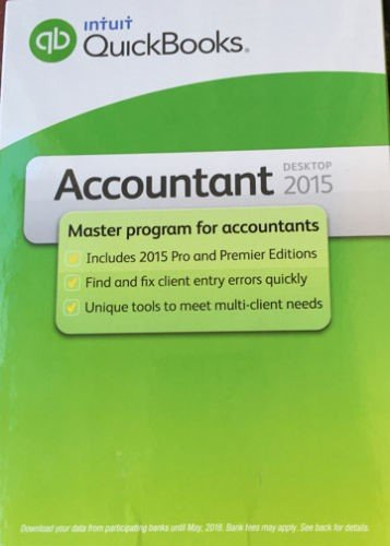 Quickbooks Premier  Accountant 2015  x 3 Users   *USED*