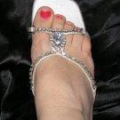 Sexy dressy backless rhinestone heels size 7.5