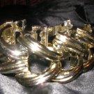 Gold chain link vintage bracelet
