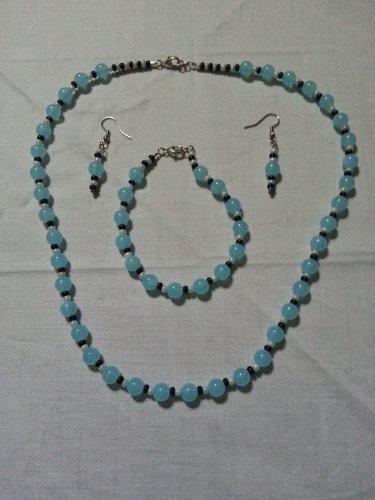 Turquoise Bead Jewelery Set