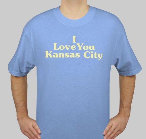 I Love You Kansas City - Mens Blue