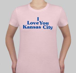 I Love You Kansas City - Womens Pink
