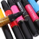 12 Color 3D DIY Nail Art Two-way Polish Brush Dot Pen Drawing Paint Tips Tools