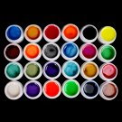 New Professional 24 Color Pearl UV Builder Gel Acrylic Nail Polish Tips Art Set