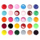 30 Multi Color Solid Pure UV Builder Polish Gel Set Nail Art Tips &USPS Shipping